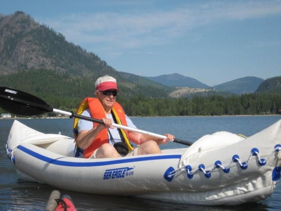 Maggie's what you'd call an active senior, kayaking and hiking in the East Kootenays region of Canada.