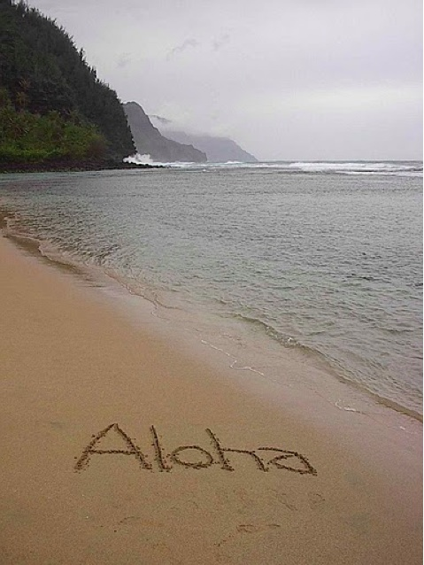 Aloha, from one of the McCanna's trips to Hawaii.