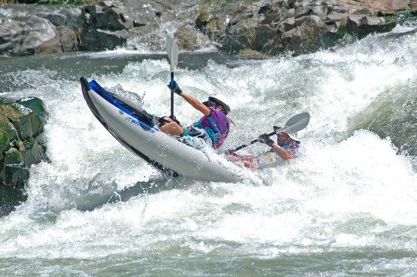 Sea Eagle owner, Dirk Darling running the American River in his Explorer Kayak