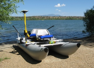 Dan Wachob's pimped-out FoldCat is an on-water survey station set up to tell precisely how much water's in a reservoir, lake, or pond.