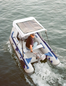 This is our Sea Eagle 10.6 with a solar panel