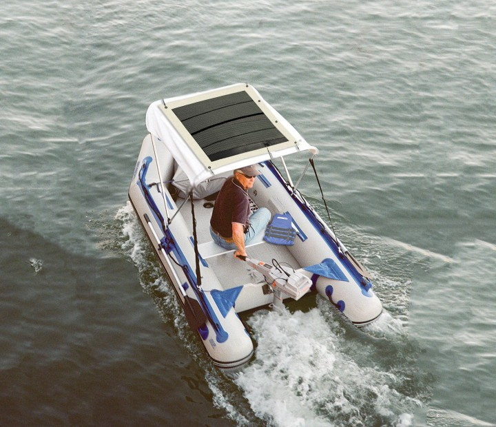 Sea Eagle 10.6 RIK with new solar panel