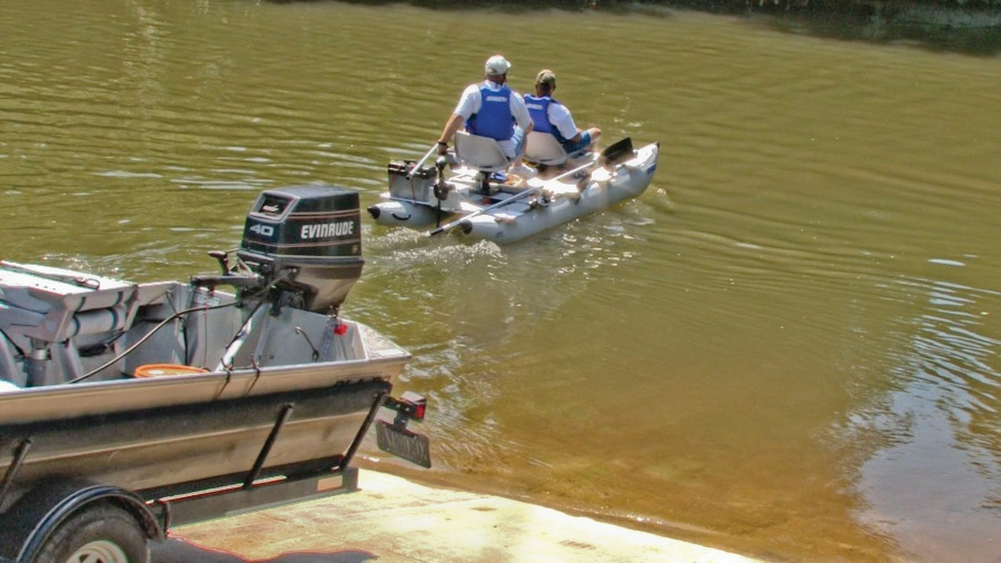 The FoldCat 375fc is a breeze to set up and launch. The same can't be said for larger bass boats.
