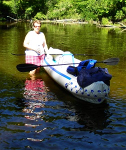 Social worker by day, Kathy enjoys kayaking with family and friends