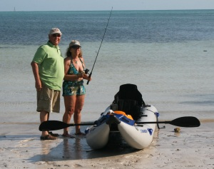"""From northern New Jersey to the Florida Keys, Joseph and Fran enjoy """"Lots of fun in the sun"""" in their Sea Eagle PaddleSki"""