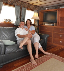 Home Sweet Boat -- Ted & Diane Greene at home on their 65' trawler