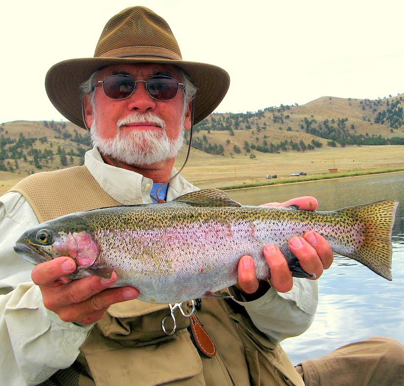 Nick reels in the big ones like this prize rainbow trout