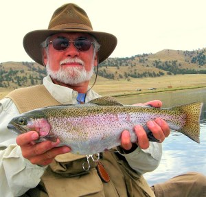 Nick knows how to reel in the big ones like this prize rainbow trout