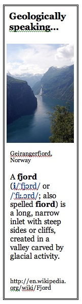 What is a Fjord?