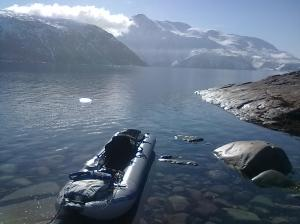 Greenland's Tunulliarfik Fjord is awsomely beautiful in its austerity; a perfect spot for the rugged outdoor adventurer and the Sea Eagle PaddleSki.