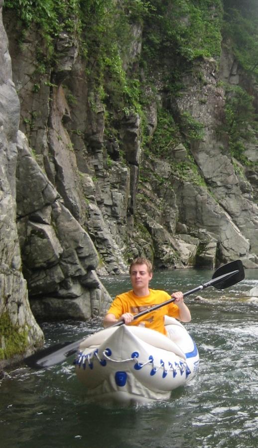 Sam Baldwin kayaks in his Sea Eagle 330