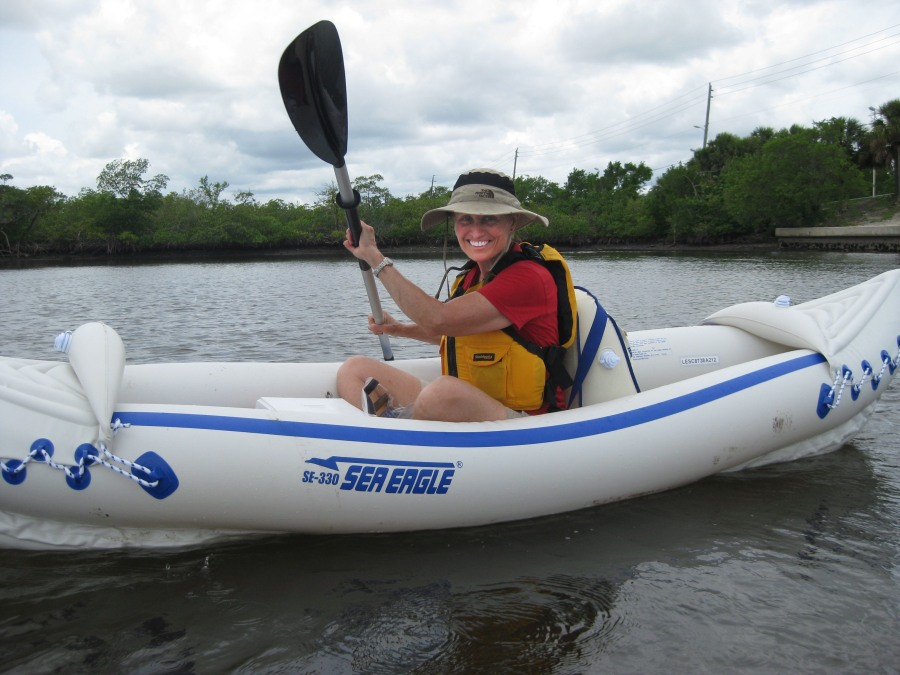 "Maria kayaked recently in Florida's West Lake Park — the largest remaining mangrove ecosystem in the 85-mile urban coastal zone from Miami Beach to West Palm Beach. The park occupies a 3-mile strip of mangrove estuary and uplands. ""It's a great place for kayaking because of the shallow water and absence of motor boats,"" she says."