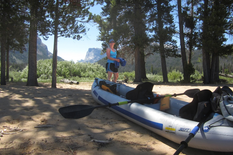When smoke from a nearby forest fire became too much to bear, Anna and Scott Corbin headed for the mountains and the cool, clear waters of the Green Mountain Lakes of Wyoming with their Sea Eagle FastTrack.