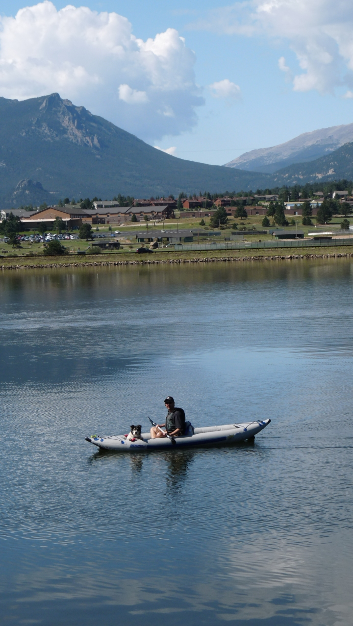 Steve enjoys boating adventure high in the mountains with his Sea Eagle FastTrack Kayak