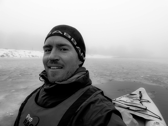 """I love the cold and the fog,"" explained Lasse, ""it makes me feel like I'm exploring a new place for the first time. Being out on the ocean with big floating chunks of ice and a slushy surface was truly surreal."""