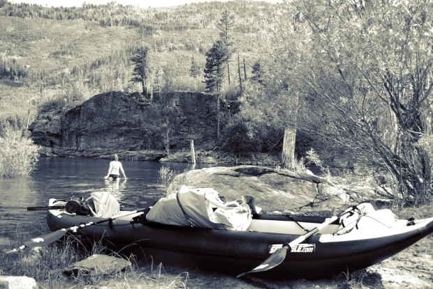 Matt enjoys calmer waters in his 420x, too. He and his fiance, Chelsey, go boating and camping at Lake Como in Montana.