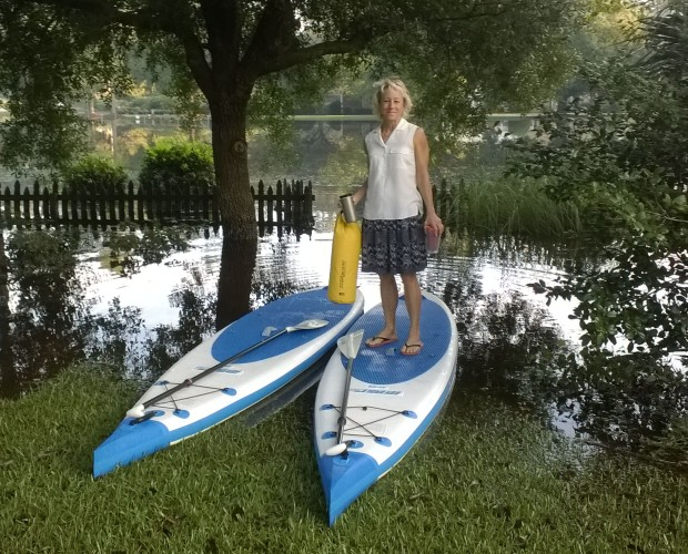 """His 'n her Needlenose™ Paddleboards for an energetic and athletic couple. """"With the kids grown, it's time to get OUR toys,"""" says Wendy."""